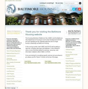 baltimorehousing.org 스샷